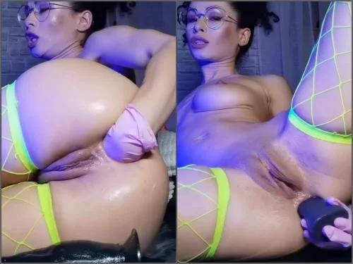 Anal insertion – Russian Stacy Bloom rough fisting and long Snake dildo sex – SBS060