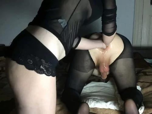 Close up – Russian mary_style double anal fisting female domination with handjob